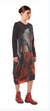 Crea Red Print Knitted Dress