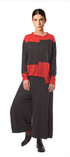 Crea Charcoal/Red Knitted Pullover