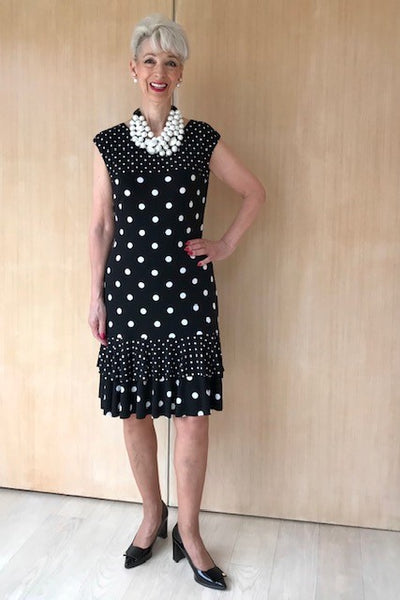 Black/White Spotted Dress