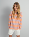 Juvia Orange Stripe Top