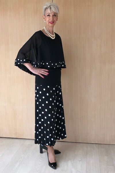 Pleated Spotted Culottes