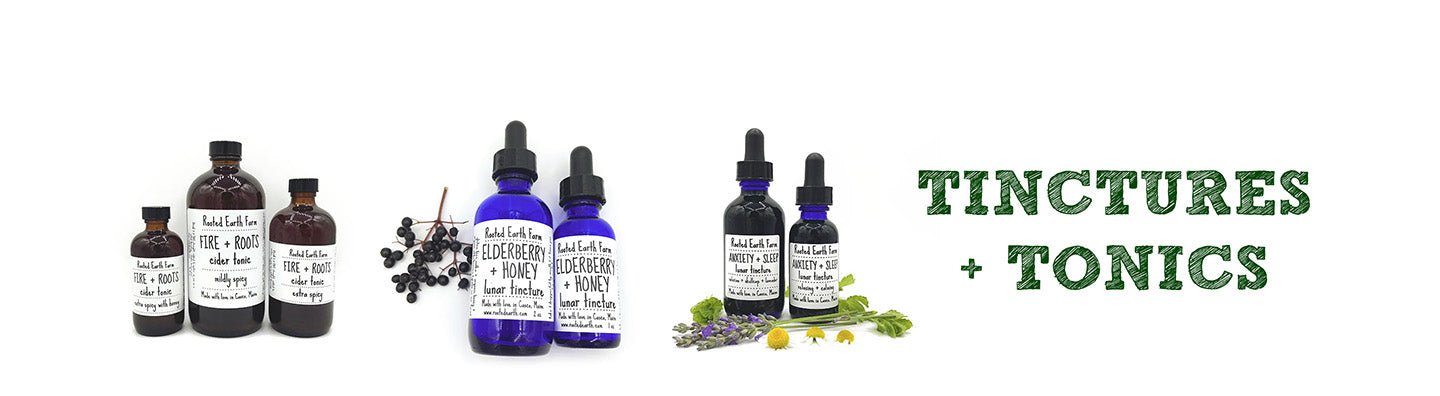 organic herbal tinctures and tonics, fire cider, fire and roots cider tonic