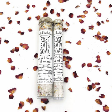 Rose Bath Soak + Epsom Salts - Bath Salts - Mother's Day - Gifts for her - Vegan Bath Salts - Herbal Bath Salts - Organic Bath Salts