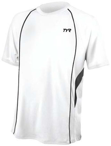 TYR  Comp Male Runnin Top TMTRE6A-108-L L (White / Black)