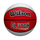 CLUTCH RED/WHITE RUBBER BASKETBALL