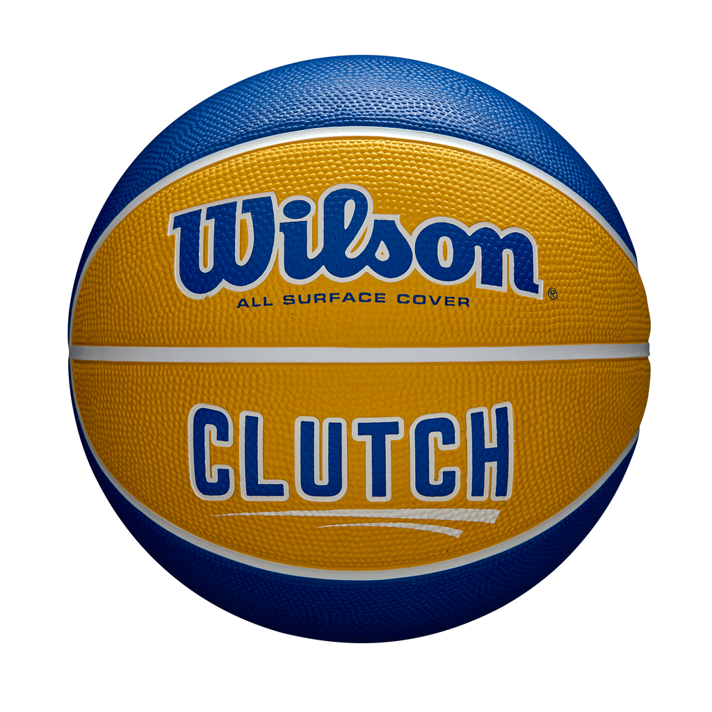 CLUTCH BLUE/YELLOW OPTIMUM RUBBER BASKETBALL