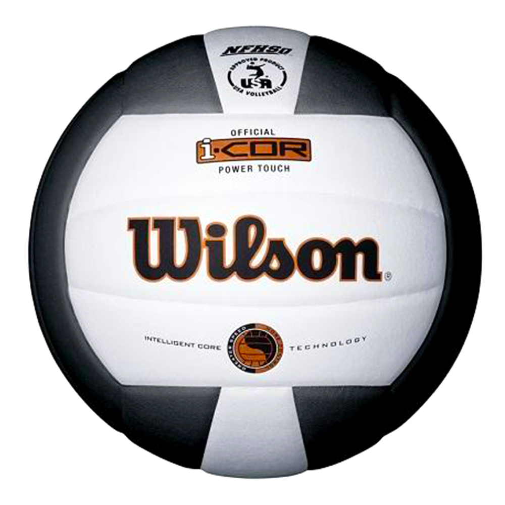 I-COR POWER TOUCH VOLLEYBALL BLACK/WHITE