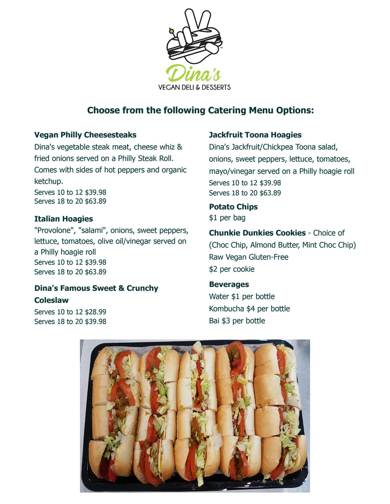 vegan catering menu