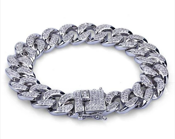 silver charms cuban link