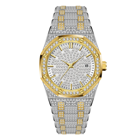 14K Gold Iced Royal Watch