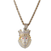 14K Gold Iced King Lion Pendant