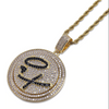 14K Gold Iced Rotating X & O Pendant