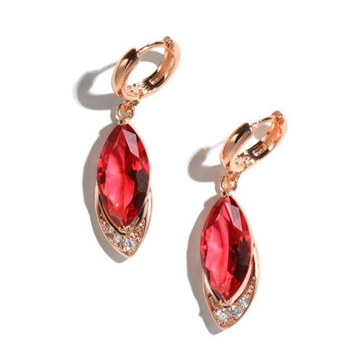 Ruby Earrings in 925 Sterling Silver