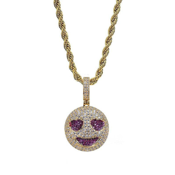 14K Gold Iced In love Grinning Face