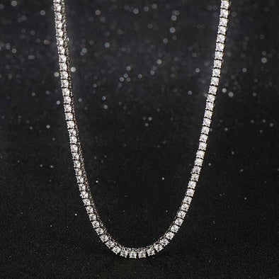 3mm White Gold Iced Tennis Chain