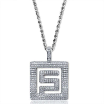 White Gold Iced Quavo Huncho Pendant
