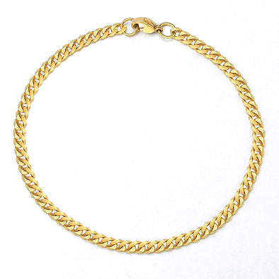 5mm 14K Gold Miami Cuban Link Bracelet