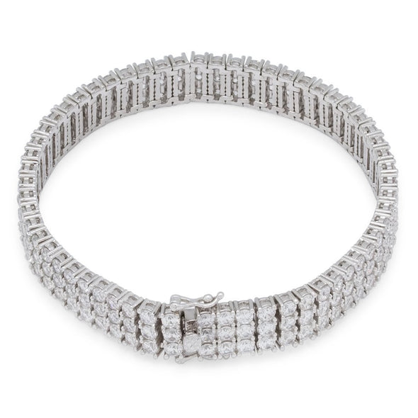 3mm CZ White Gold Tennis Bracelet