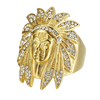 14K Gold Iced Chief Rain Cloud Ring