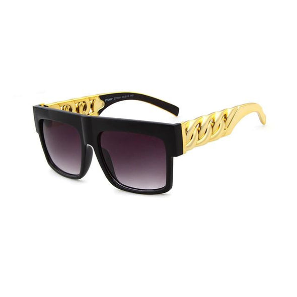 Gold Key Shades with Glossy Black Frame