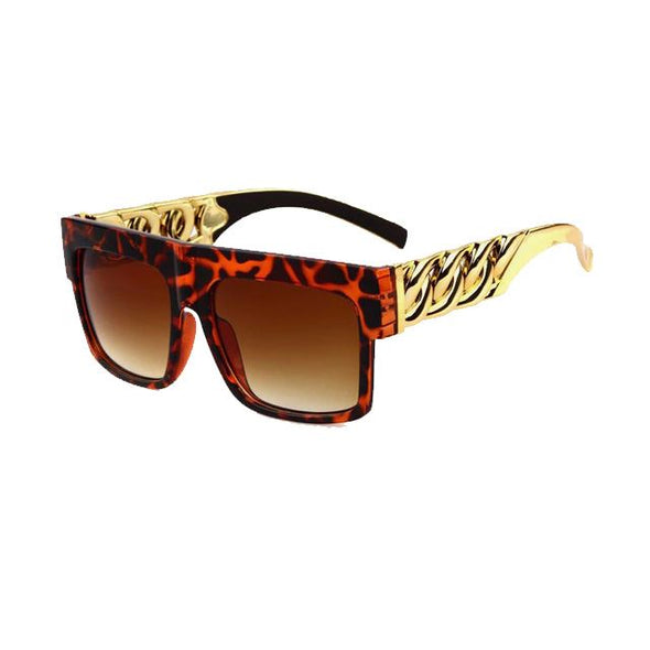 Gold Key Shades with Glossy Leopard Frame