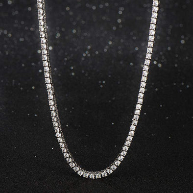 6mm White Gold Iced Tennis Chain