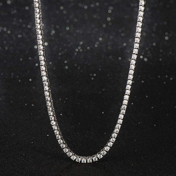 6mm S925 Silver Tennis Necklace