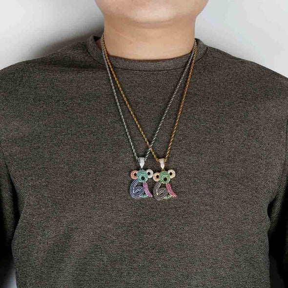 Urban Iced Monkey Necklace