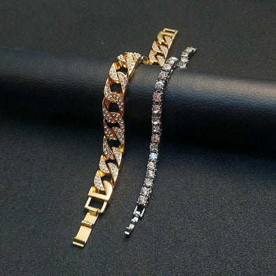 Iced Cuban Link (14mm) + Tennis Bracelet Bundle