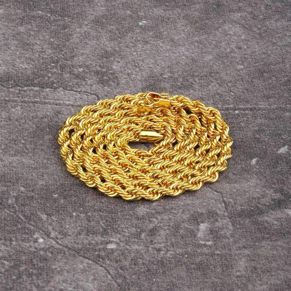 6mm 14K Gold Rope Chain