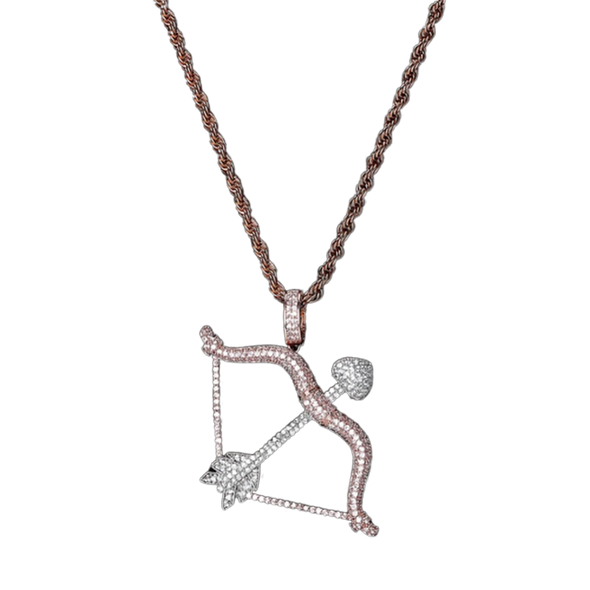 Rose Gold Iced Cupid Pendant