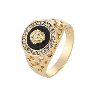 14K Gold Lion Ring