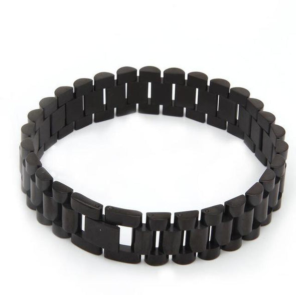 15mm Black Stainless Steel Rolex Link Bracelet
