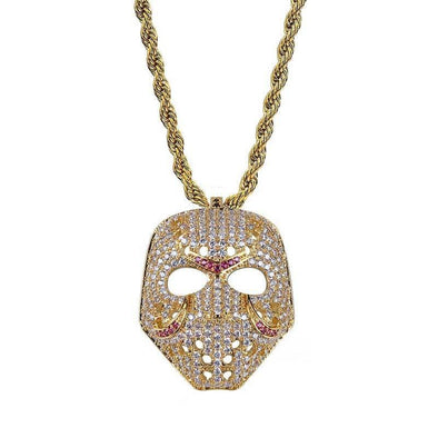 14K Gold Iced Friday The 13th Jason Mask