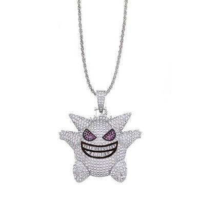Iced Out Demon Pendant