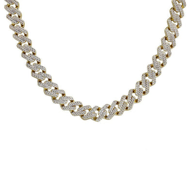 Miami Cuban Link Necklace (14mm) in Yellow Gold