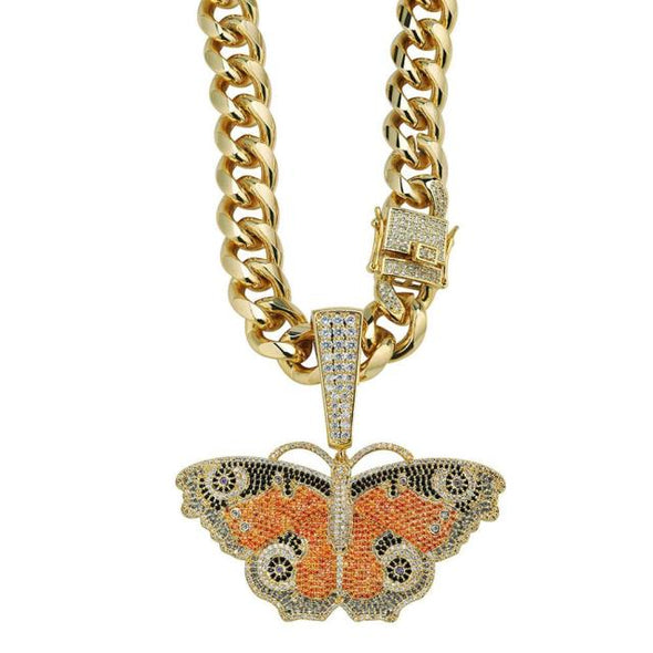 Urban Iced Butterfly Necklace