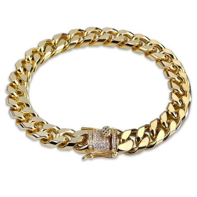 10mm 14K Gold Miami Cuban Link Bracelet