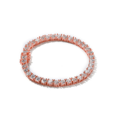 5mm Rose Gold Iced Tennis Bracelet