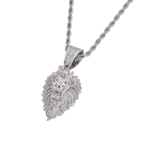 White Gold Lion Pendant