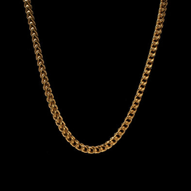 6mm 14K Gold Franco Chain