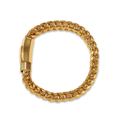 8mm 14K Gold Franco Bracelet