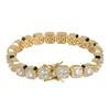 10mm 14K Gold Iced Clustered Tennis Bracelet