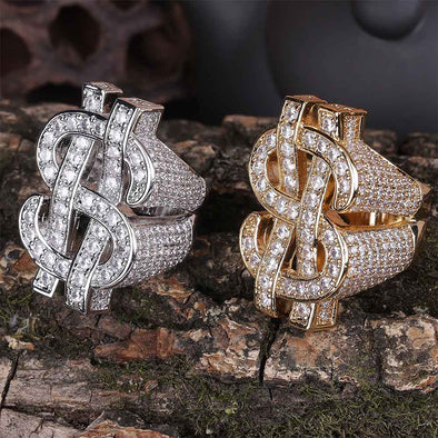 Iced Dollar Rings