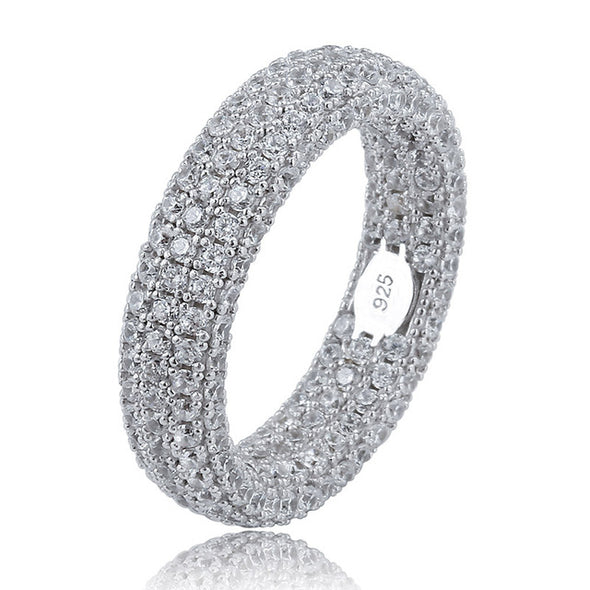 Iced Eternity Ring in 925 Sterling Silver