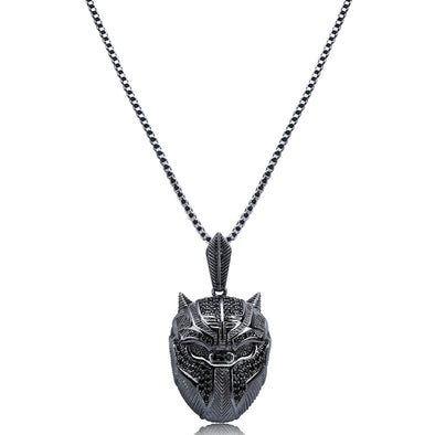 Iced Black Panther Necklace