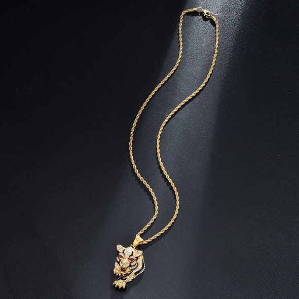 Iced Tiger Necklace