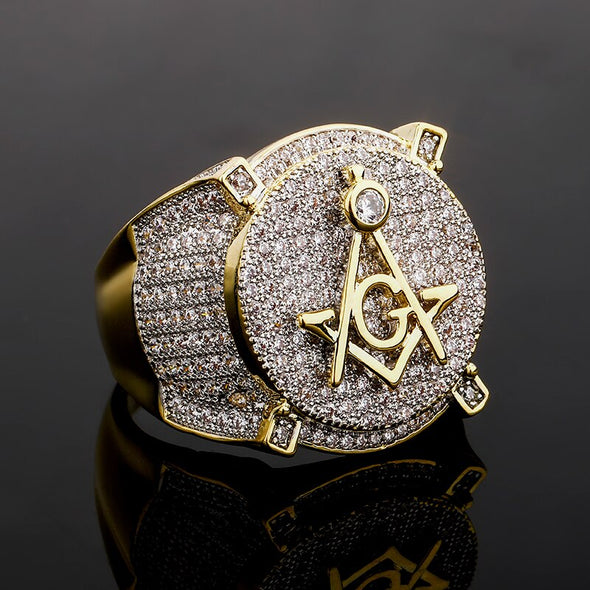 Iced Masonic Ring