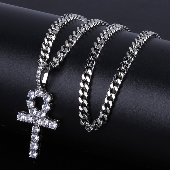 White Gold Iced Cross Bundle