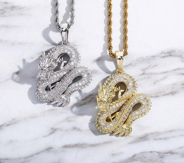 Urban Iced Dragon Necklace